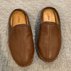 L.L Bean elkhide men's slippers